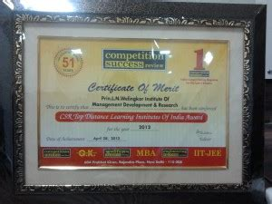 Part Time Mba In Finance From Welingkar by Accolades For Distance Education Programs At Weschool