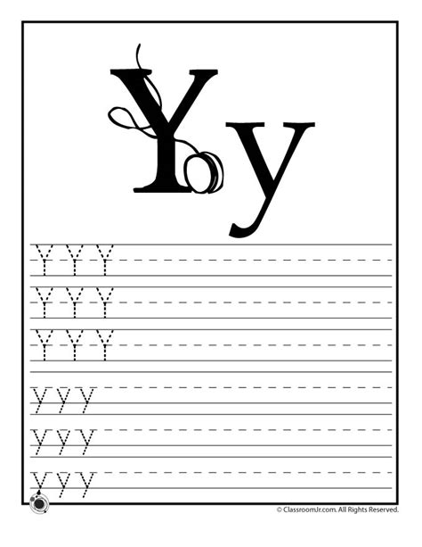 printable letter y worksheets for preschool the letter quot y quot learning abc s worksheets learn letter y