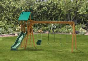 Outdoor Swing Sets Swing Set 2 Swingsets Luxcraft Poly Furniture Storage