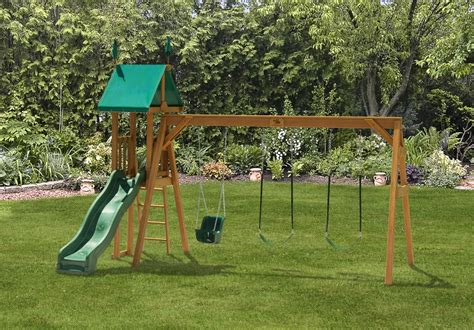 backyard swingset swing set 2 swingsets luxcraft poly furniture storage
