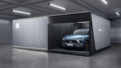 Nio Garage by Company Invents Cocoon Garage That Wraps Around