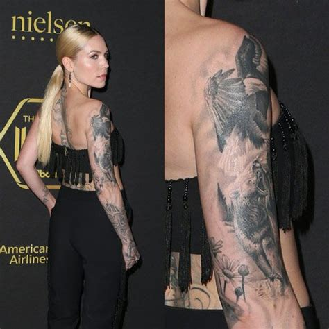 skylar grey tattoo skylar grey eagle arm style