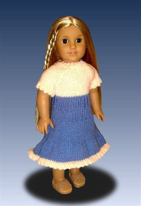 pretty peasant dress pdf pattern doll clothing dolls doll peasant dress knitting pattern for american girl and