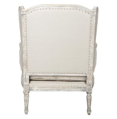 french country chaise lounge stefania french country wing back white grey chaise lounge