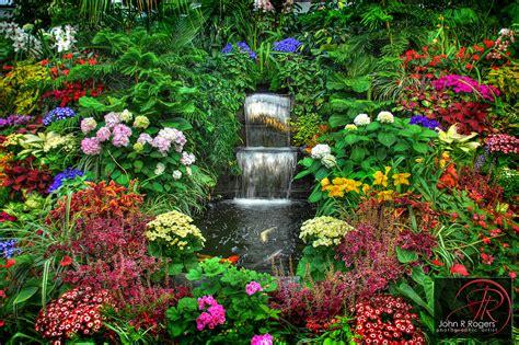 In Garden Of Butchart Gardens Coy Pond Photographer R