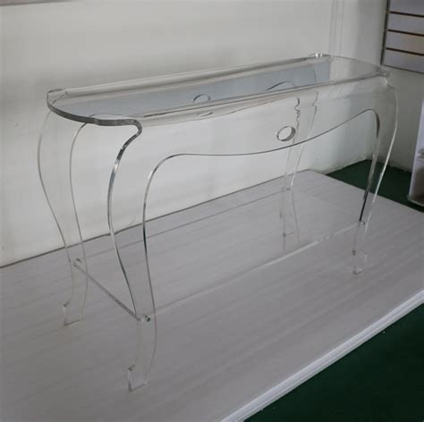 Acrylic 1 Cm high transparency acrylic console table lucite vanity