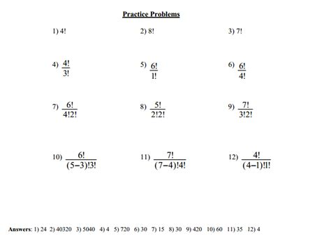Factorial Worksheet factorials worksheet free worksheets library