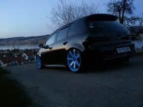 modified cars volkswagen black golf mk6