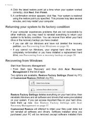 c section recovery instructions i can t access my account what gives acer aspire tc