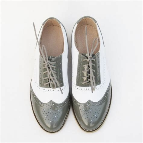 Comfortable Shoes For School by Green And White Vintage Shoes Comfortable Oxfords For