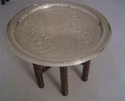 moroccan tea table moroccan silver tray coffee tea table traditional side tables and end tables by e kenoz