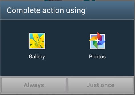 android gallery android how to open gallery app directly to images