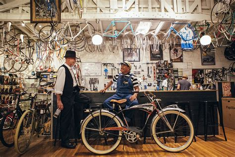 Garage And Workshop Designs bike shop the bicycle stand momentum mag