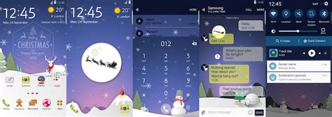 samsung themes for lg a flurry of christmas themes arrives early on the samsung