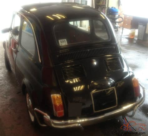 1968 FIAT 500 BLACK WITH RED INTERIOR. BEAUTIFUL CAR AND