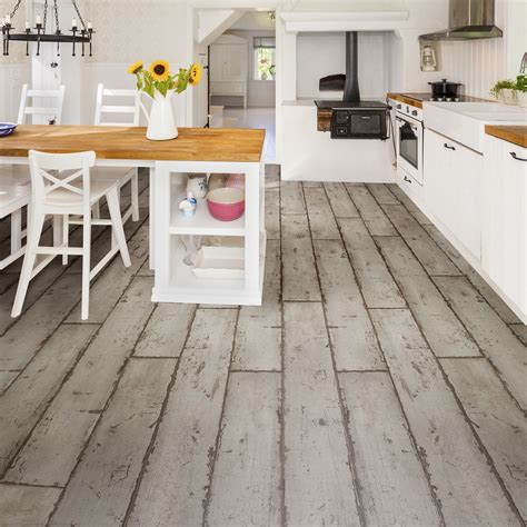 kitchen flooring metal tile vinyl for kitchens hand grey washed wood effect waterproof luxury vinyl click