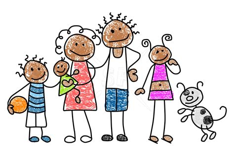 Free Clipart Families family member mix n match stick figures clip stick