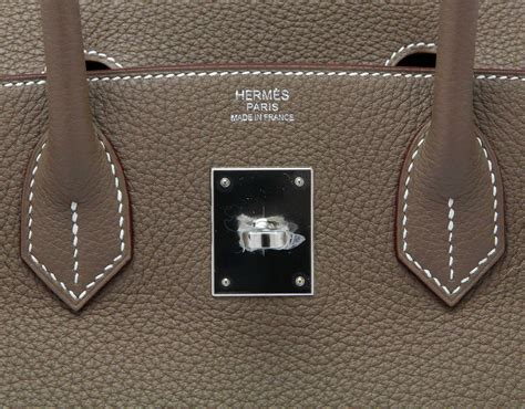 Hermess Togo hermes birkin etoupe 30cm bags of luxury