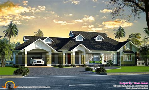 siddu buzz luxury bungalow exterior kerala home - Luxury Bungalow Design