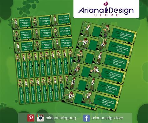 name tag design ben 10 etiquetas ben 10 name tags stickers by arianadesigns