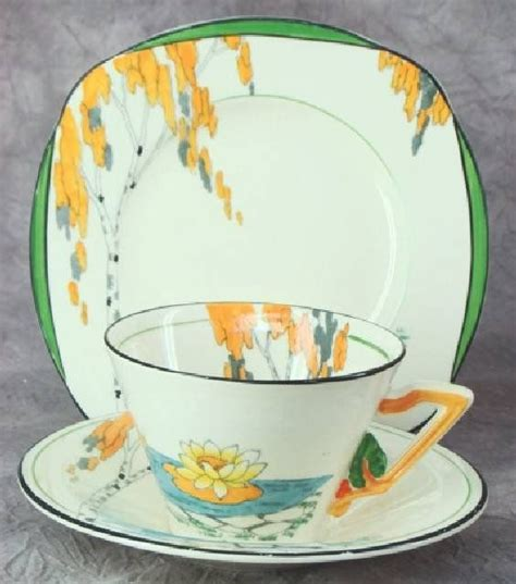 burleigh pattern numbers art deco burleigh ware zenith quot lily pond quot trio