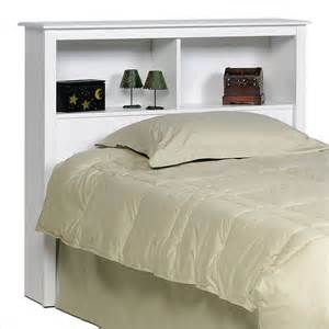 Bedroom Furniture Bookcase Headboard Prepac Prepac Monterey White Bookcase Headboard Bedroom Furniture