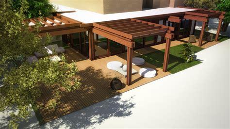 verande giardino veranda su un attico a 2pservice