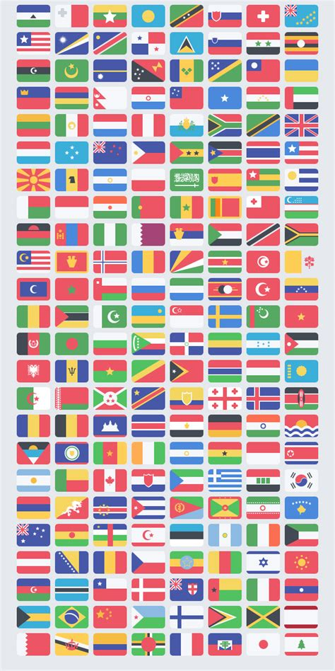 flat world flags icons pack psd download download psd