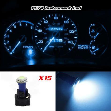 T5 Led Lu Panel Ac Speedometer Birupcs partsam 15pcs pc74 twist socket blue t5 73 74 led 5050 smd in