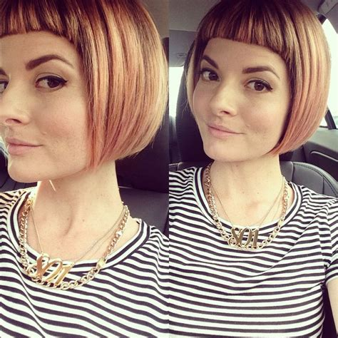 earlobe length blunt styles 1000 ideas about short bangs hairstyles on pinterest
