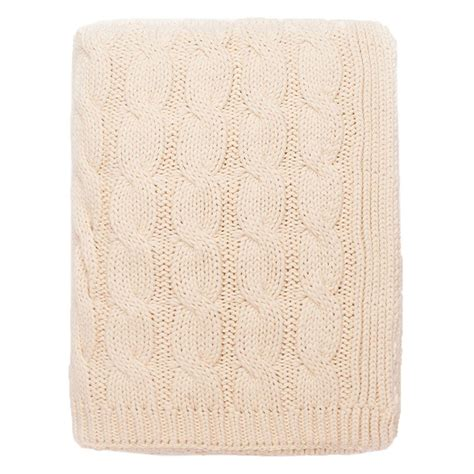 large cable knit throw the ivory large cable knit throw crane canopy