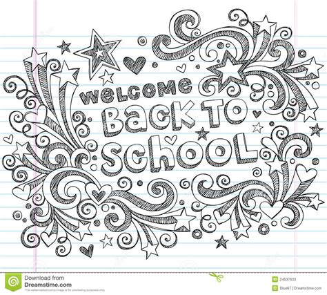 doodle vector back to school sketchy doodles vector design stock photos