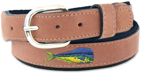 zep pro dolphin embroidered leather belt size 36