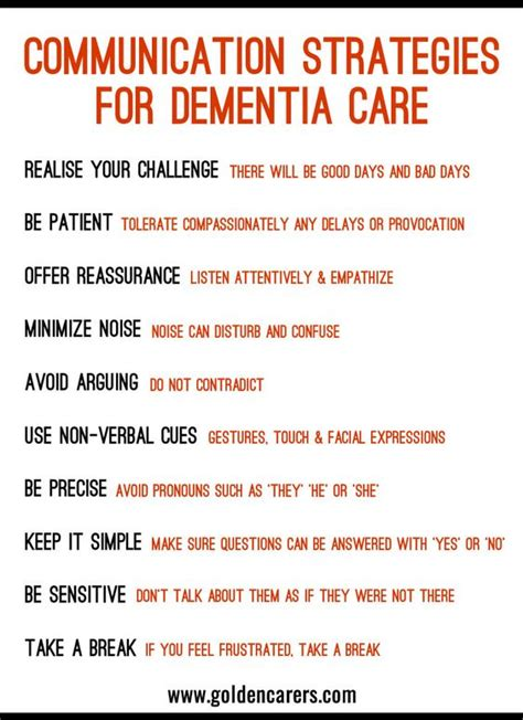 10 Tips To The With Someone New by 10 Communication Strategies For Dementia Care Language