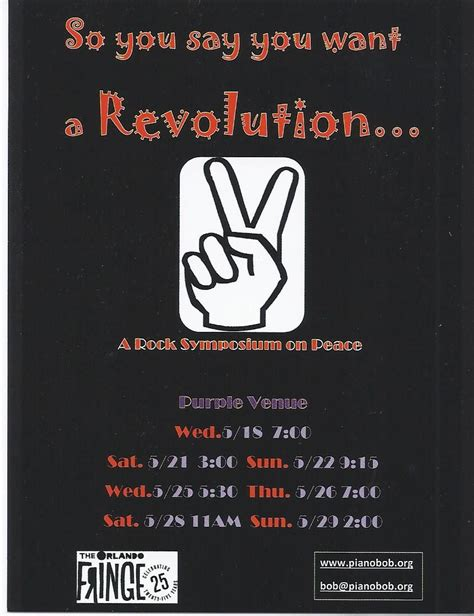 You Say You Want A Revolution by Fringe Review So You Say You Want A Revolution Blogs