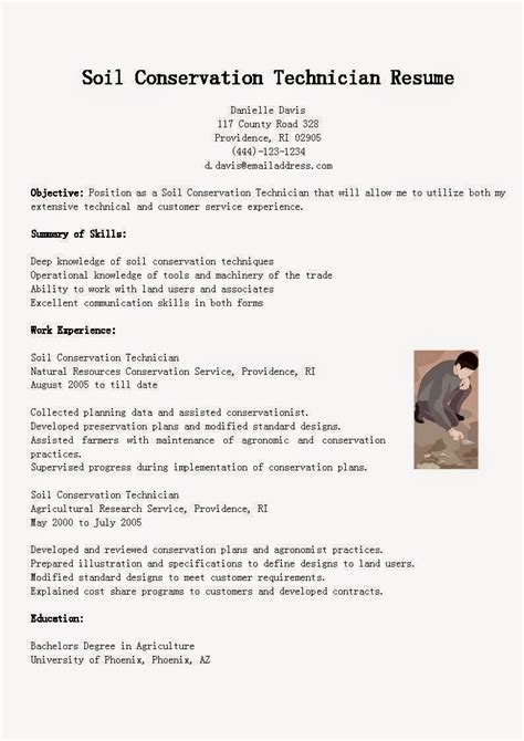 Soil Conservation Technician Sle Resume by Resume Sles Soil Conservation Technician Resume Sle