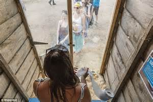 one way window bathroom glastonbury s loo which offers view of pyramid stage