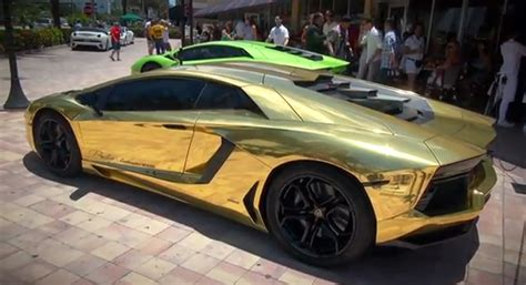 gold convertible lamborghini gold wrapped lamborghini aventador lp 700 4 unveiled by