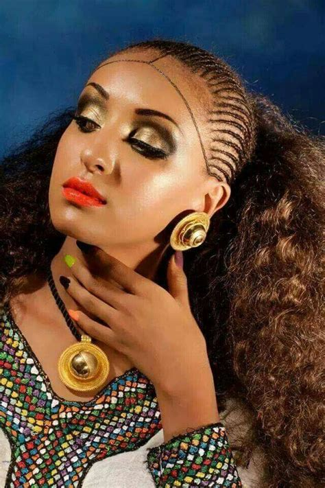 bubbles in ethiopian hair habesha beauty natural hair style braids pinterest
