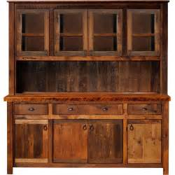 Kitchen Buffet And Hutch Furniture Rustic Hutch Artisan Frontier Barnwood Buffet Hutch