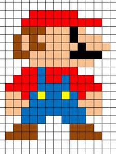 mario minecraft pixel art template minecraft pixel art