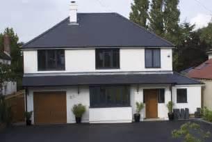 bungalow two section series grey aluminium windows and sliding doors dwl