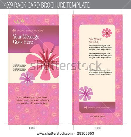 rack card with bleed template 4x9 rack card brochure template includes cropmarks