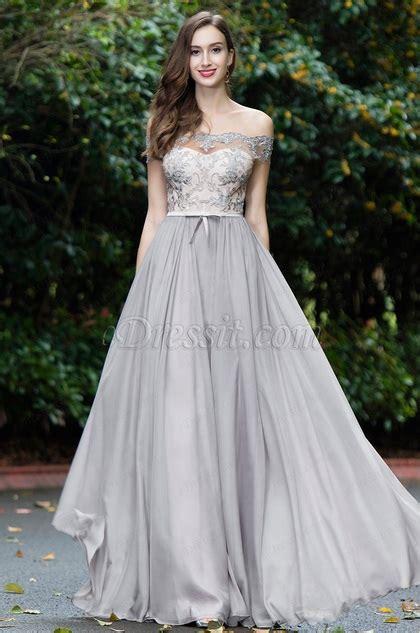 Shoulder Lace Evening Gown edressit grey shoulder lace evening gown 02171908