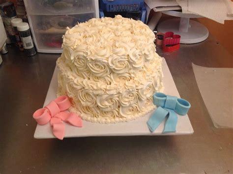 baby shower kuchen rosette gender reveal cake my cakes gender