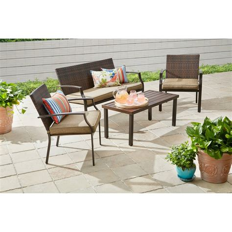 Better Homes And Gardens Boxford 4 Piece Wicker Stacking Better Homes And Gardens Wicker Patio Furniture