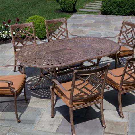 alfresco home sarasota dining set seats 6 contemporary