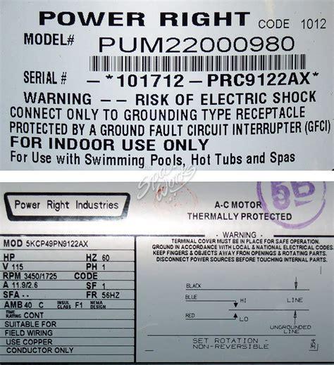 cal spa dually motor cal spa power right dually motor 120v 56 fr the spa works