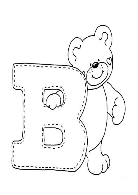 imagenes para colorear letras letra b para colorear dibujos para colorear