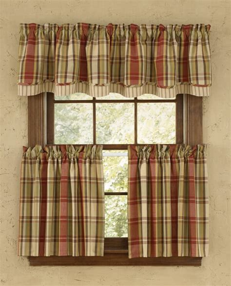 country curtains valances heartfelt lined layered curtain valance